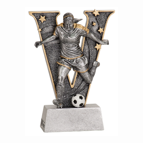 V-Series Female Soccer Resin Trophy