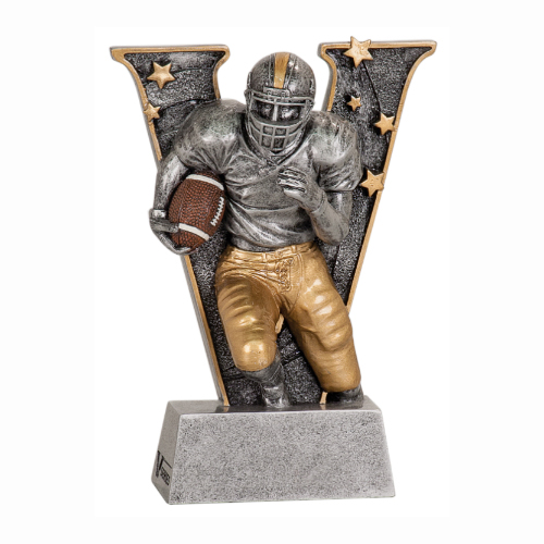 V Series Football Resin Trophy