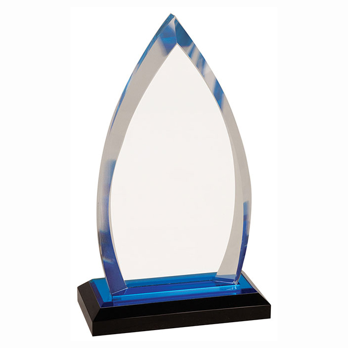 Acrylic Award in Sharp Oval form for impressive effect
