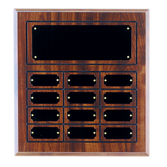 Cherry Finish Grooved Perpetual Plaque with Name Plates