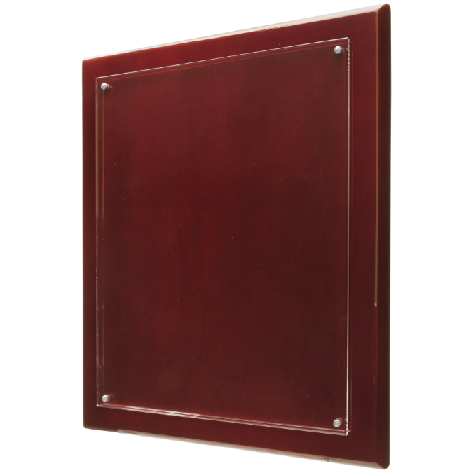 Rosewood Finish High Gloss Floating Acrylic Plaque