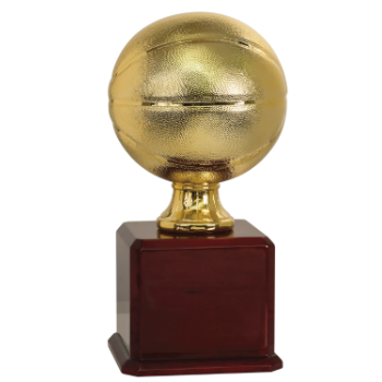 Bright Gold Basketball Trophy Panel